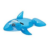 Игрушка для плавания, BESTWAY, 41037, Кит, 157х94 см, Винил, Сине-Белый, Цветная коробка