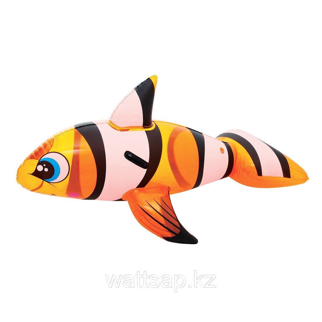 Игрушка для плавания, BESTWAY, 41088, Рыба-Клоун, 157х94 см, Винил, Оранжевый, Цветная коробка
