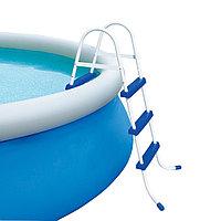 Лестница для бассейна, BESTWAY, 58045, Металл + Пластик, До 91 см, Сине-Белый, Цветная коробка