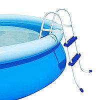 Лестница для бассейна, BESTWAY, 58046, Металл + Пластик, До 76 см, Сине-Белый, Цветная коробка