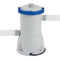 Фильтрующий насос для бассейна, BESTWAY, 58117, 3.028 л/час, 1100-19300 литров, Серо-Синий, Цветная коробка