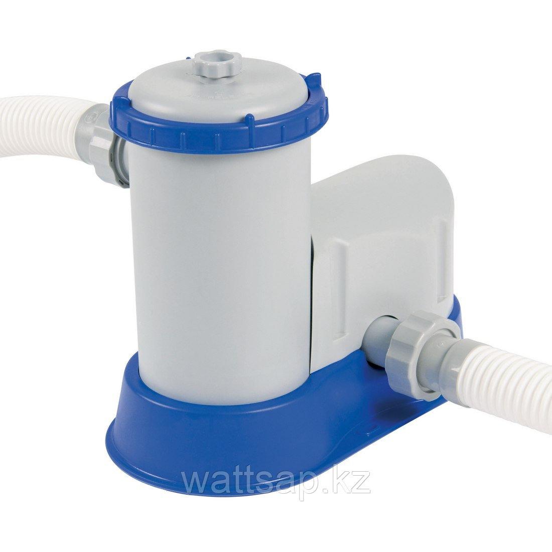 Фильтрующий насос для бассейна, BESTWAY, 58122, 5.678 литров/час, 1100-36300 литров, Два набора переходников 32 мм, Пластик, Серо-синий, Цветная