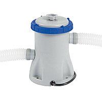 Фильтрующий насос для бассейна, BESTWAY, 58145, 1.249 литров/час, 1100-8300 литров, Один фильтрующий насос, Серо-Синий, Цветная коробка