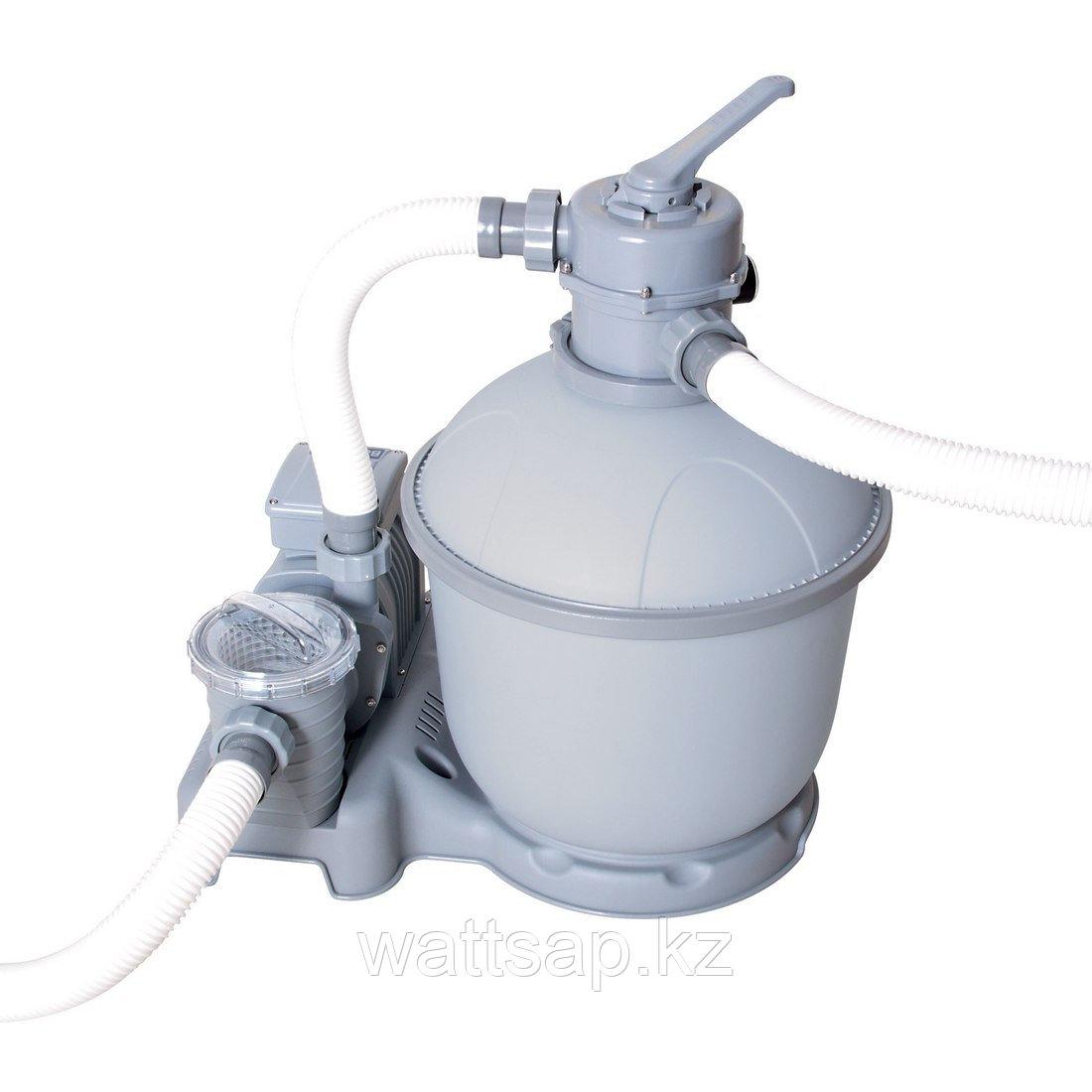 Песчаный фильтр, BESTWAY, 58199, 5.678 литров, 1.100-42.300 литра, Серо-синий, Цветная коробка
