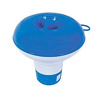 Плавающий дозатор, BESTWAY, 58210, Пластик, Таблетки не входят в комплект, Синий, Цветная коробка