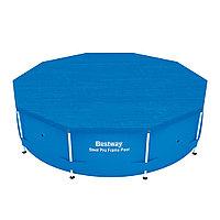 Тент для бассейна, BESTWAY, 58036, 305 см, Полиэтилен, Шнуры для крепления, Синий, Цветная коробка
