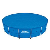 Тент для бассейна, BESTWAY, 58038, 457х91 см, Полиэтилен, Шнуры для крепления, Синий, Цветная коробка