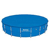 Тент для бассейна, BESTWAY, 58039, 549 см, Полиэтилен, Шнуры для крепления, Синий, Цветная коробка