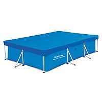 Тент для бассейна, BESTWAY, 58106, 300х201х66 см, Полиэтилен, Шнуры для крепления, Синий, Цветная коробка
