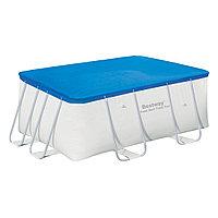 Тент для бассейна, BESTWAY, 58231, 287х201х100 см, Полиэтилен, Шнуры для крепления, Синий, Цветная коробка