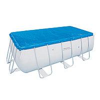 Тент для бассейна, BESTWAY, 58232, 412х201х100 см и 404х201х100 см, Полиэтилен, Шнуры для крепления, Синий, Цветная коробка