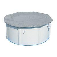 Тент для бассейна, BESTWAY, 58291, 305х122 см, Полиэтилен, Шнуры для крепления, Серый, Цветная коробка