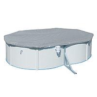 Тент для бассейна, BESTWAY, 58293, 488х366х122 см, Полиэтилен, Шнуры для крепления, Серый, Цветная коробка