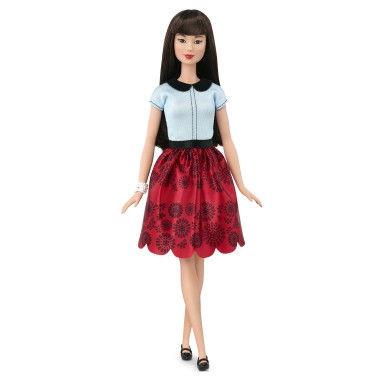 """Barbie """"Игра с модой"""" Кукла Барби - Азиатка в красной юбке #19"""