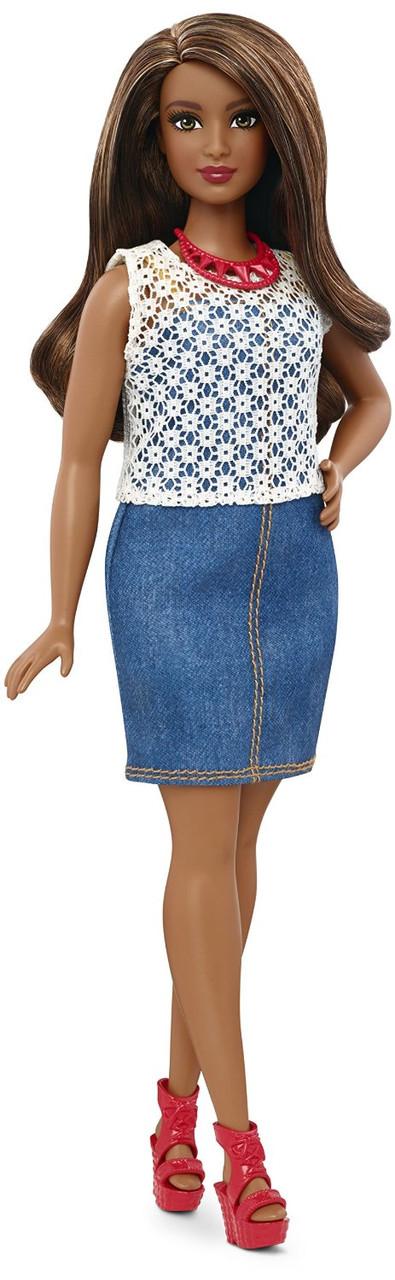 "Barbie ""Игра с модой"" Кукла Барби - Афроамериканка, Dolled Up Denim #32 (Пышная)"