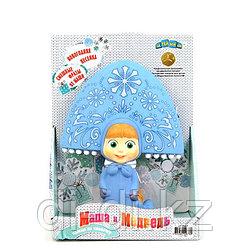 Пластизоль GT7607 Маша-Снегурочка с песенкой и фразами, в коробке ТМ Маша и Медведь