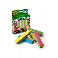 Многоцветный мел для асфальта Multi-Color, 4 цвета (смываемый)