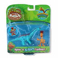 Поезд Динозавров наб. из 2 коллекц. фиг. Арни и X-Ray Гилберт