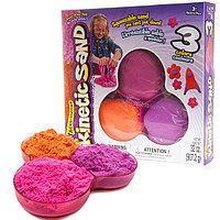 Песок для лепки Kinetic Sand 907 гр. 3 цвета в наборе