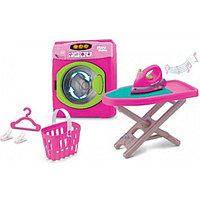 """Игровой набор """"Прачечная"""" (стиральная машинка, гладильная доска, утюг, корзина для белья)"""