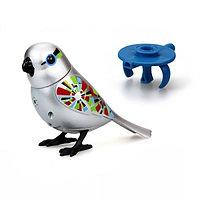 Серебряная птичка с кольцом, фото 1
