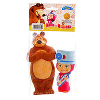 Пластизоль GT7773 Маша-доктор и Мишка,в пакете,ТМ Маша и Медведь, фото 1