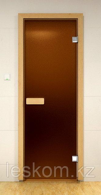 Дверь стеклянная для сауны и бани
