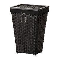 Корзина для белья КНАРРА коричневый с подкладкой черный ИКЕА, IKEA , фото 1