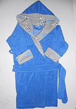 Халат детский махровый с капюшоном для мальчиков и девочек.