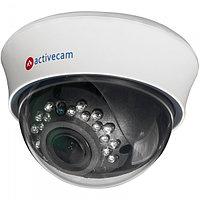 Бюджетная внутренняя купольная 1Мп IP-камера с вариофокальным объективом и ИК-подсветкой Activecam
