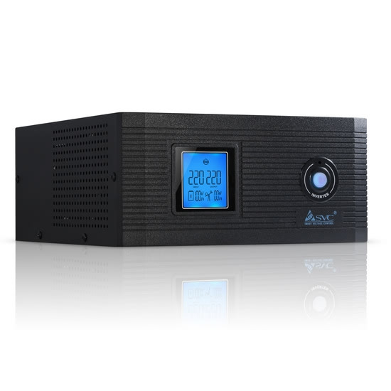 Инвертор, SVC, DI-1000-F-LCD (800W), Вход 12В и/или 220В, Выход 220В (Чистая синусоида на выходе), Диапазон работы AVR: 145-270В, Функция заряда
