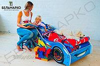 Детская кровать-машина «Тачка синяя», фото 4