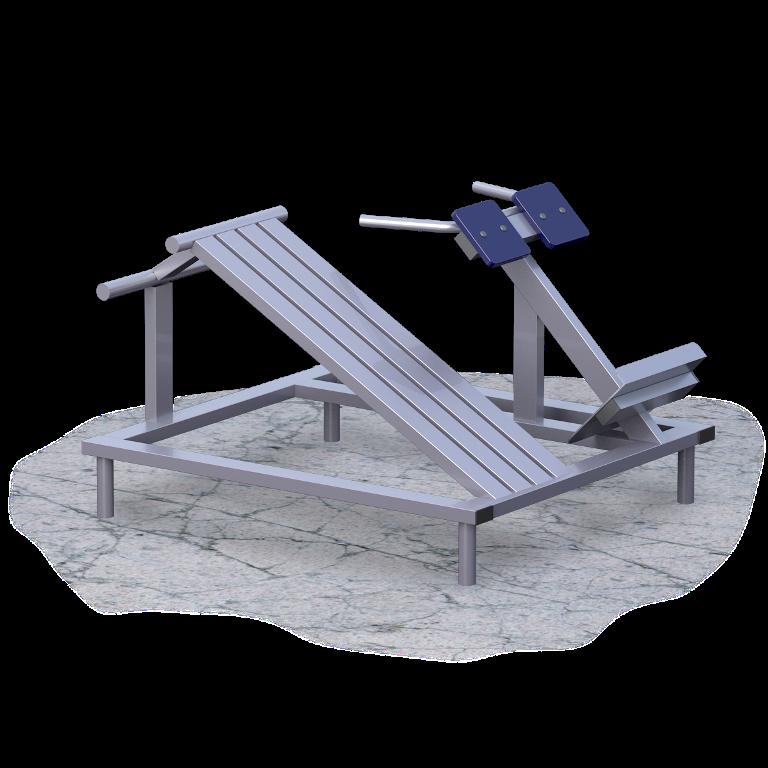 Скамья для пресс + гиперэкстензия (UZ018)