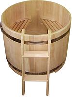 Круглая купель из кедра. Размеры: 1500х1500х1200 мм