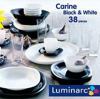 Столовый сервиз Luminarc carine white&black 38 предметов, фото 1