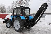 Трактор МТЗ-82.1 с траншеекопателем (грунторезом) и лопатой