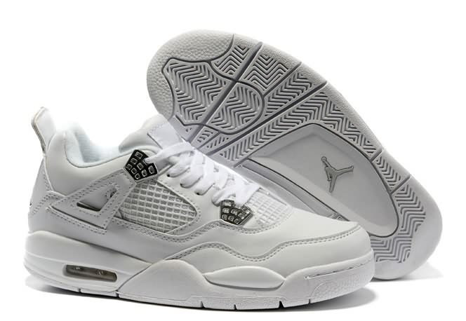 Кроссовки Air Jordan 4(IV) White Silver (37-40)