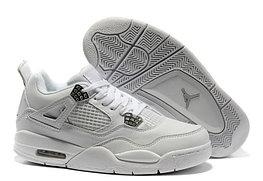 Кроссовки Air Jordan 4(IV) White Silver (37-40)
