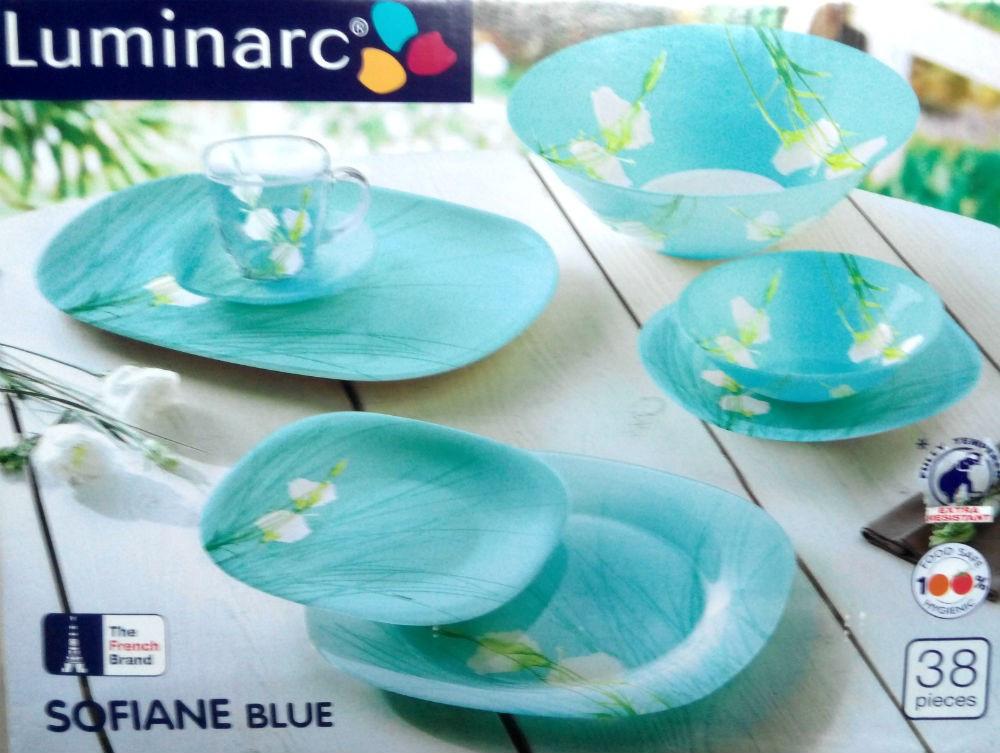 Столовый сервиз Luminarc sofiane blue 38 предметов