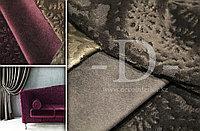 Портьерная ткань для штор и обивки, велюр однотонный