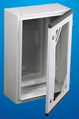 Шкаф навесной со стеклянной дверью и с монтажной панелью IP 55 ARES 400*600*280