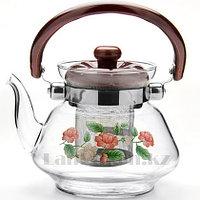 """Заварочный стеклянный чайник """"Tea and Coffee pot"""" 1400 ml с ситечком"""