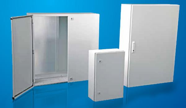Настенные шкафы DM(300х300х200)мм в комплекте с монтажной панелью,заземление IP-65