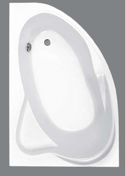 Акриловая ванна асимметричная угловая JIKA CONSTANCE 170*115 см.
