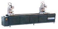 Двухголовочный сварочный станок для изготовления металлопластиковых дверей и окон.