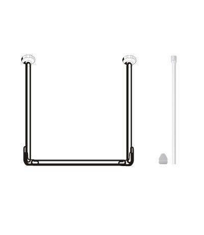Карниз для штор в ванную комнату LeMARK  RUA1801
