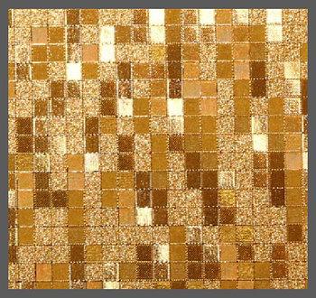 Пленка декор  KJ6303 (3D квадрат золото) 1,52м