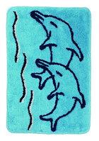 Коврик для ванной комнаты Aquaлиния голубой/дельфин 50*80 (92)
