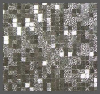 Пленка декор KJ6302 (3D квадрат серебро) 1,52м
