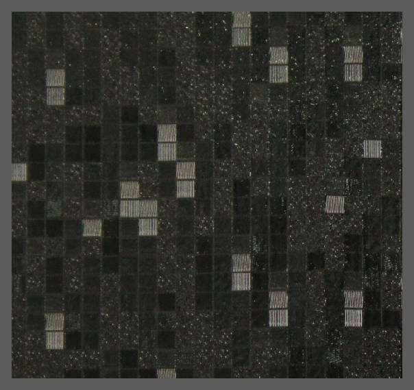 Пленка декор KJ6304 (3D квадрат черный) 1,52м
